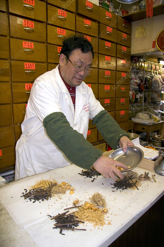 Herbalist in Chicago's Chinatown