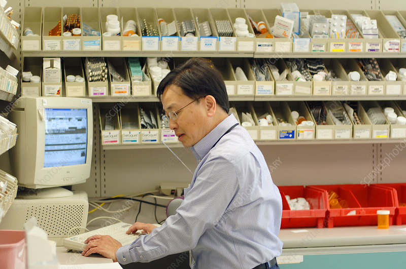 Pharmacist Filling Prescriptions