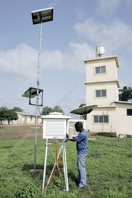 Weather station measurements, Benin