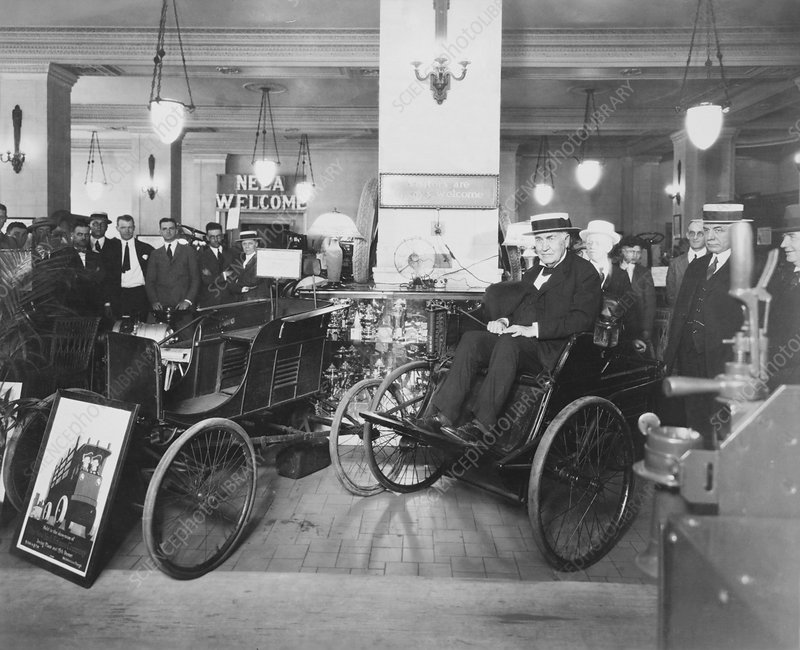 Thomas Edison in Quadricycle