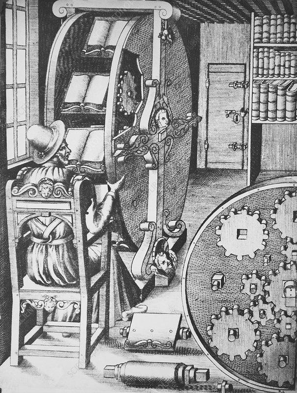 Ramelli's reading wheel