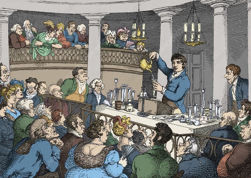 Sir Humphrey Davy Lecturing
