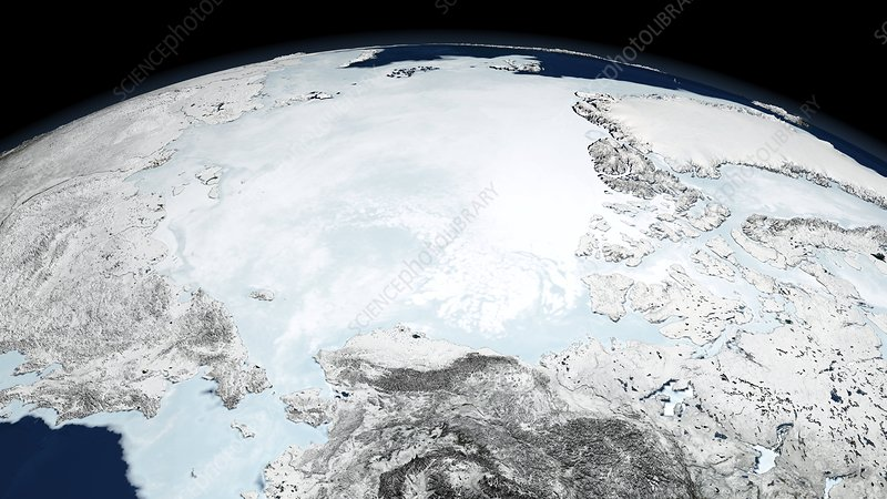 Arctic sea ice maximum, March 2008