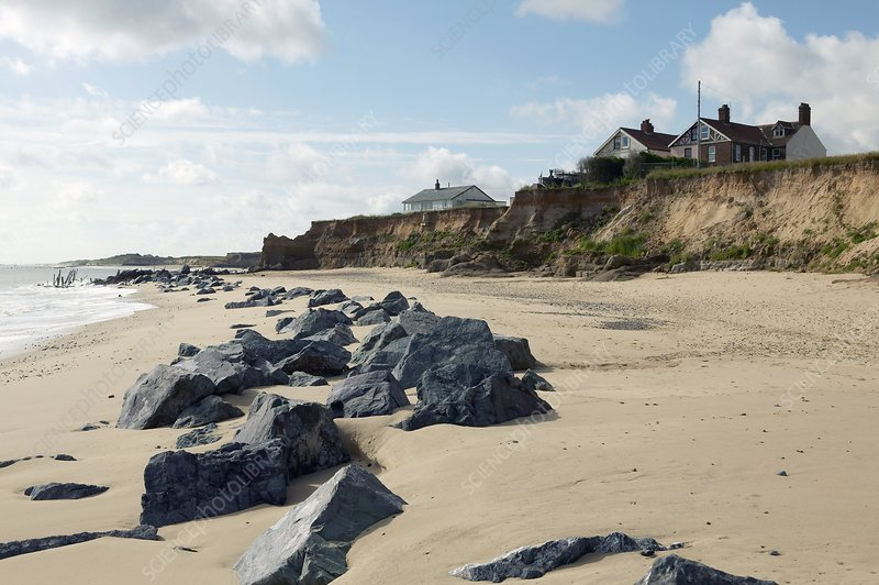 Coastal erosion, Norfolk