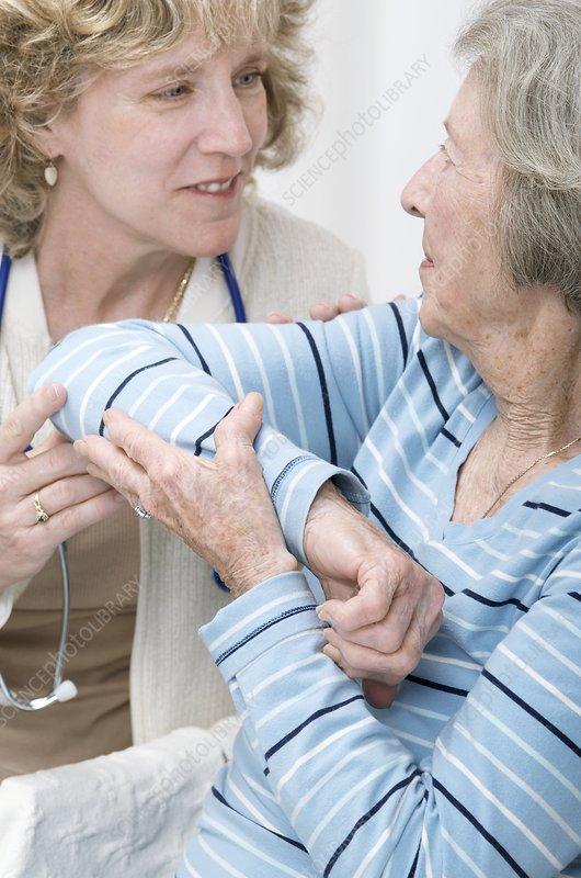 GP and elderly patient