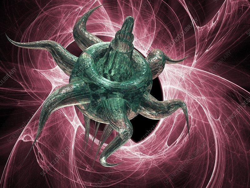 Artificial virus, artwork