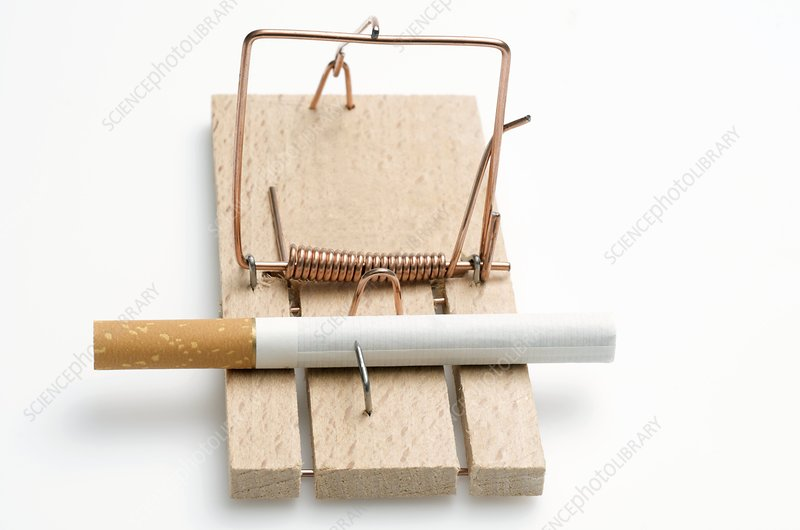 Tobacco addiction, conceptual image