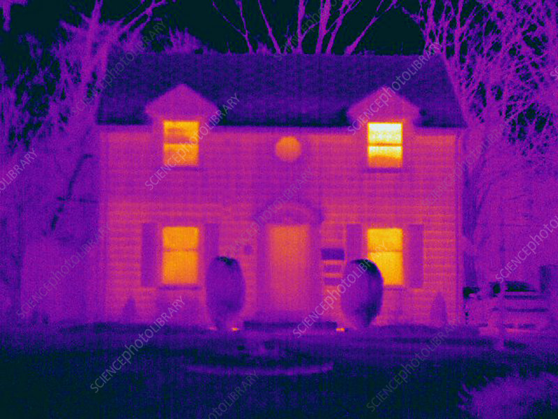 Thermogram of a House in Winter