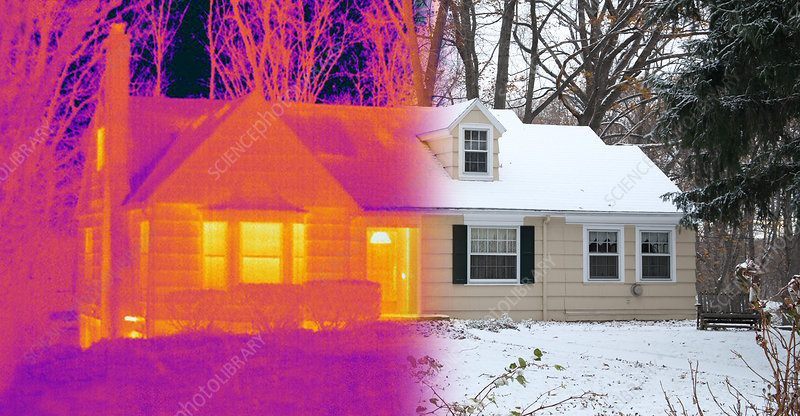 Visible and Infrared Image of a House