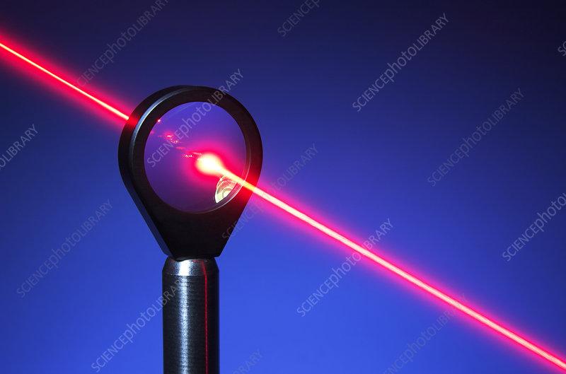 Laser Beam Passing Through Lens