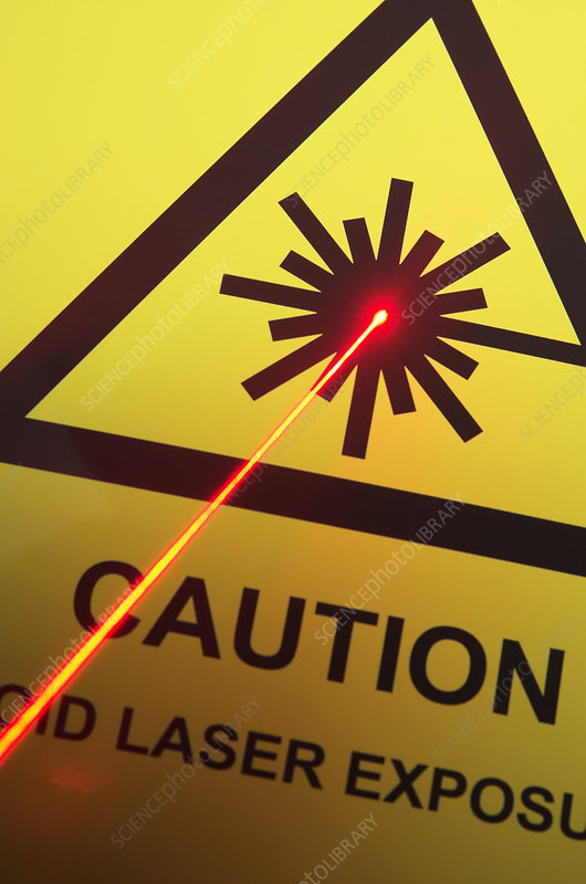 Laser Danger Warning Sign