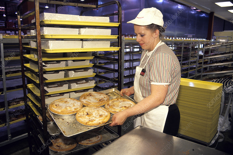 Pies in a Commercial Bakery