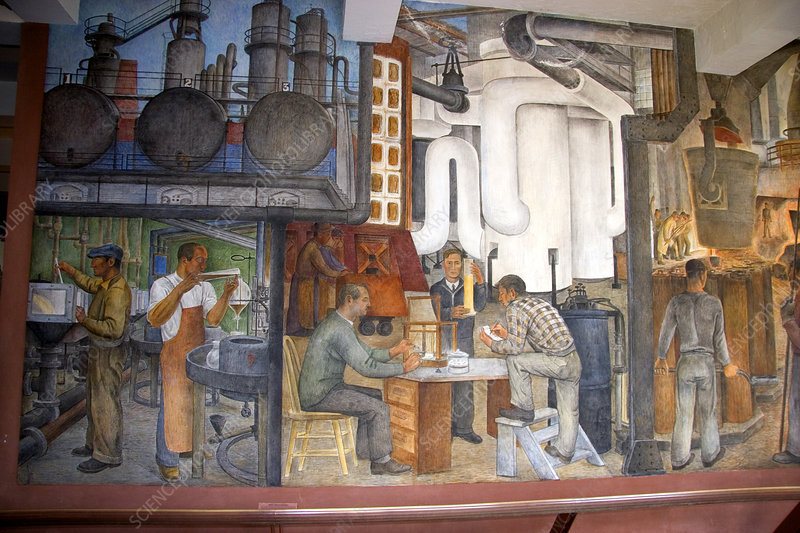 Mural in the interior of Coit Tower