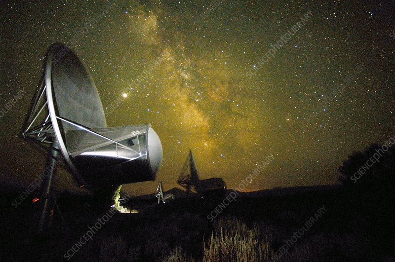 Allen Telescope Array at night