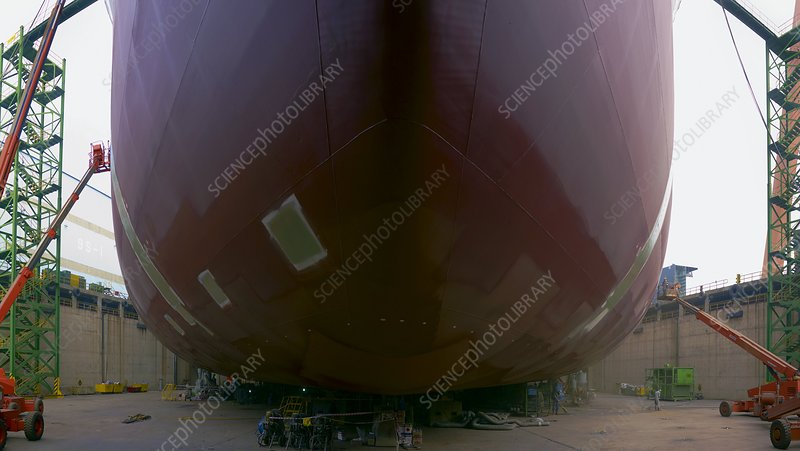 Crude oil tanker being built