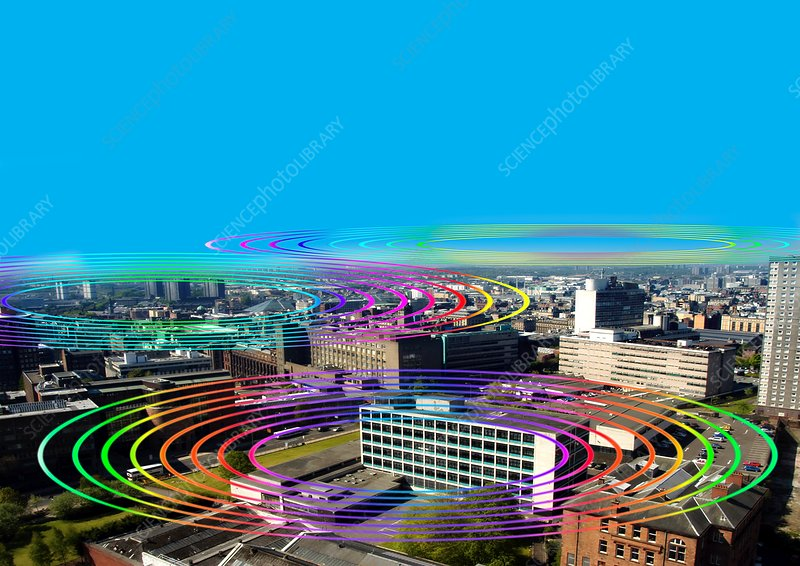 Wireless internet city, artwork
