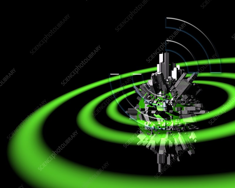 Wireless internet planet, artwork