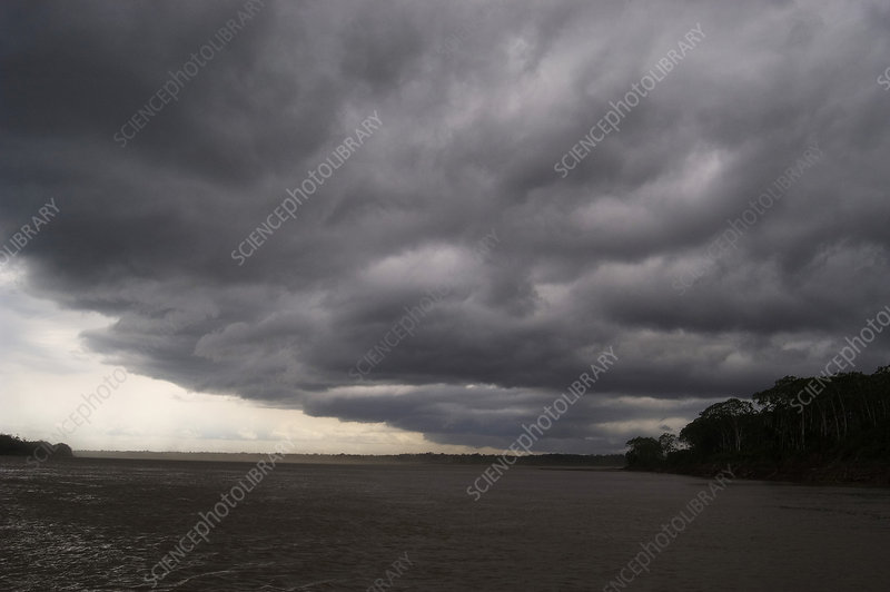 'Storm on Amazon River outside of Iquitos, Peru'