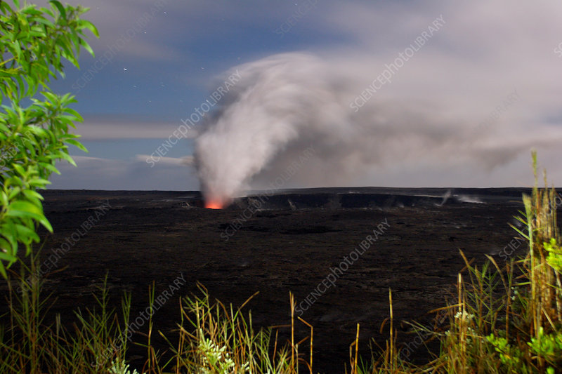 Ash and Steam Eruption at Kilauea Volcano