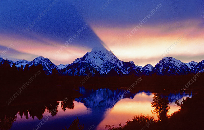 Grand Teton NP at sunset