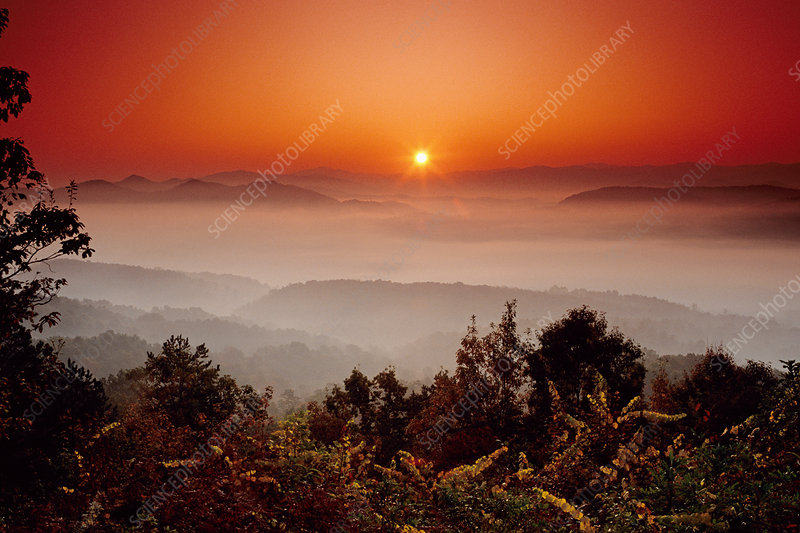 Great Smoky Mountains NP at sunrise