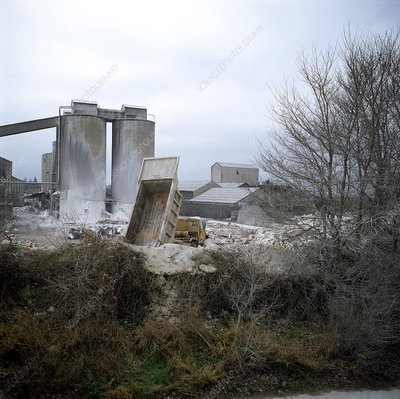 Demolition of disused cement works