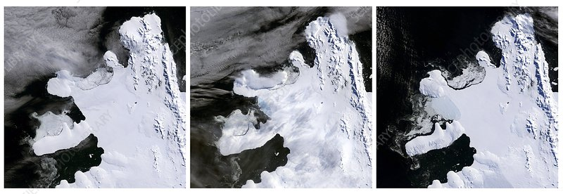 Wilkins Ice Shelf break-up, 2008