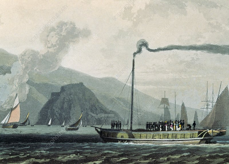 Steamboat in Scotland, 1813