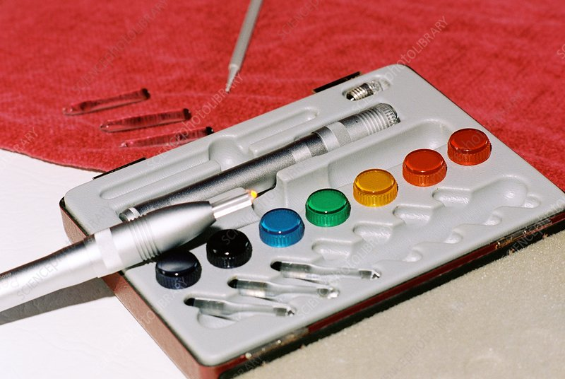 Colour acupuncture kit