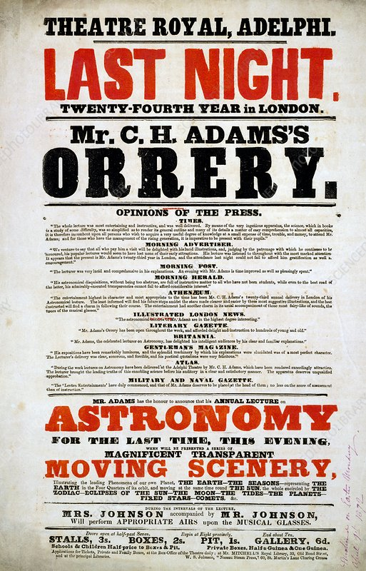 Astronomy lecture poster