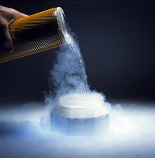 Liquid Nitrogen being poured