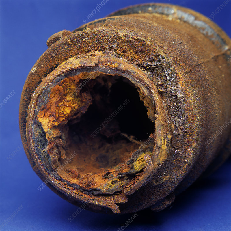 Rusty Clogged Drain Pipe