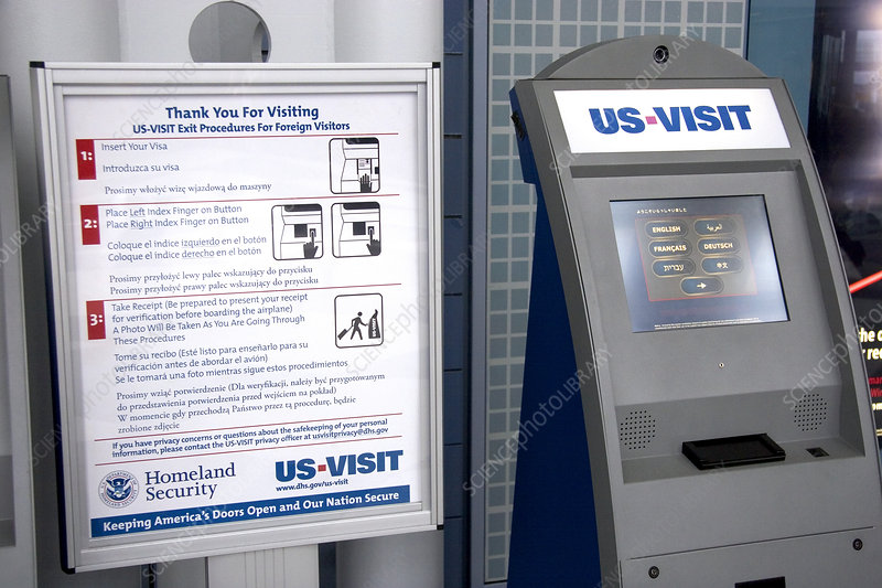 US-VISIT Automated Exit Device