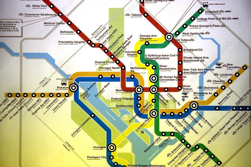 Dc Metro Rail Map on