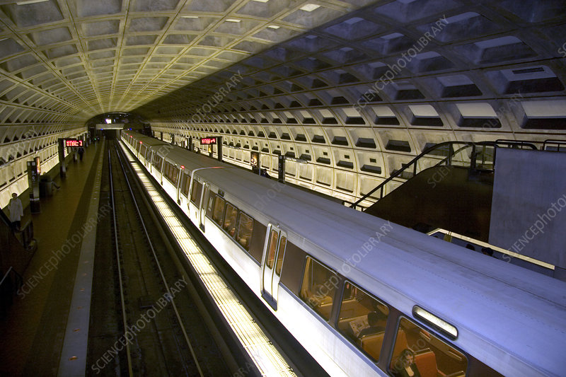 Metrorail system in Washington D.C