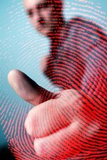Fingerprint scan, conceptual image