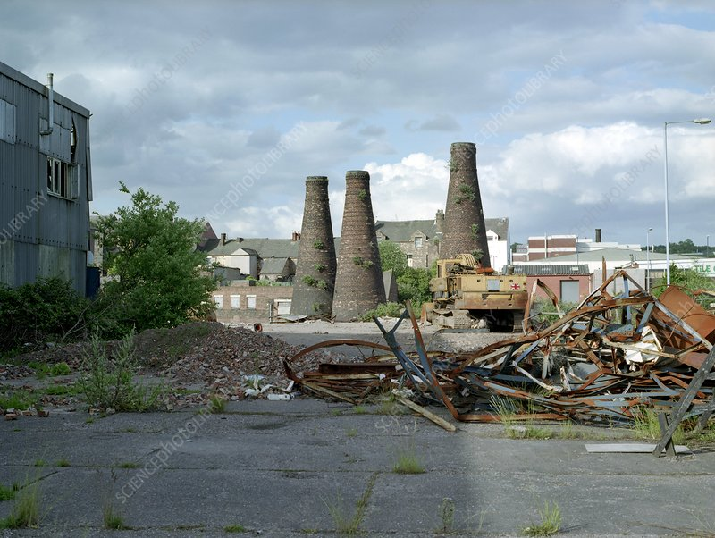 Derelict pottery factory