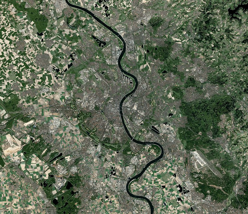 Cologne, Germany, satellite image