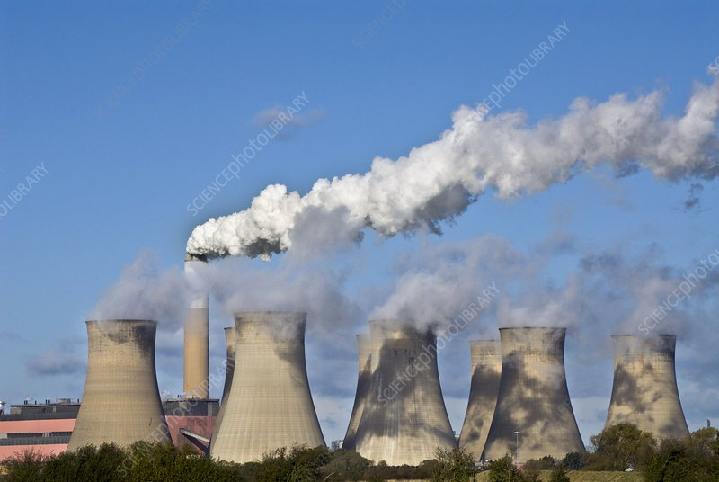 Chimney and cooling tower