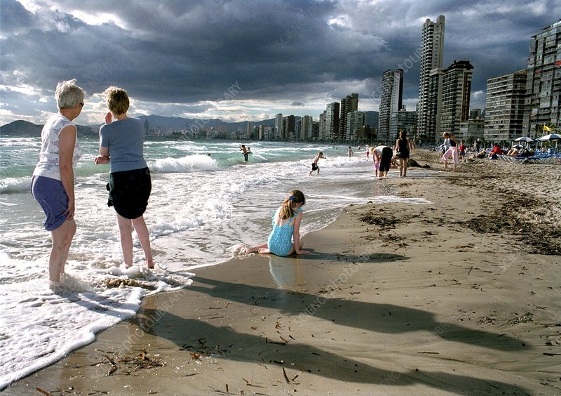 People on the beach, Benidorm,Spain