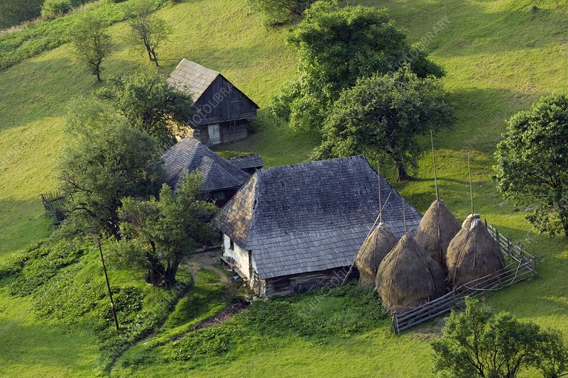 Romanian farm buildings