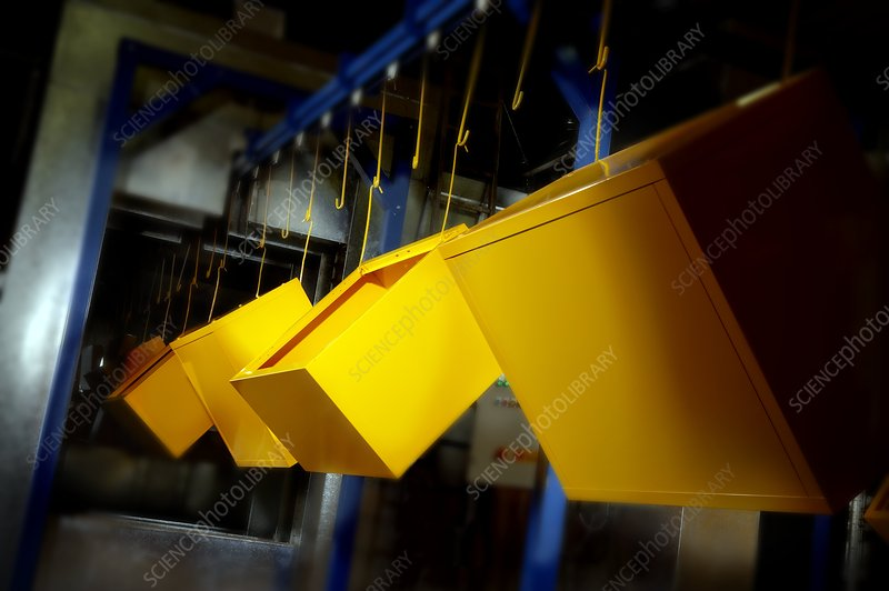 Industrial powder coating