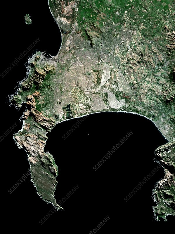 Cape Town, South Africa, satellite image