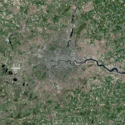 London, UK, satellite image