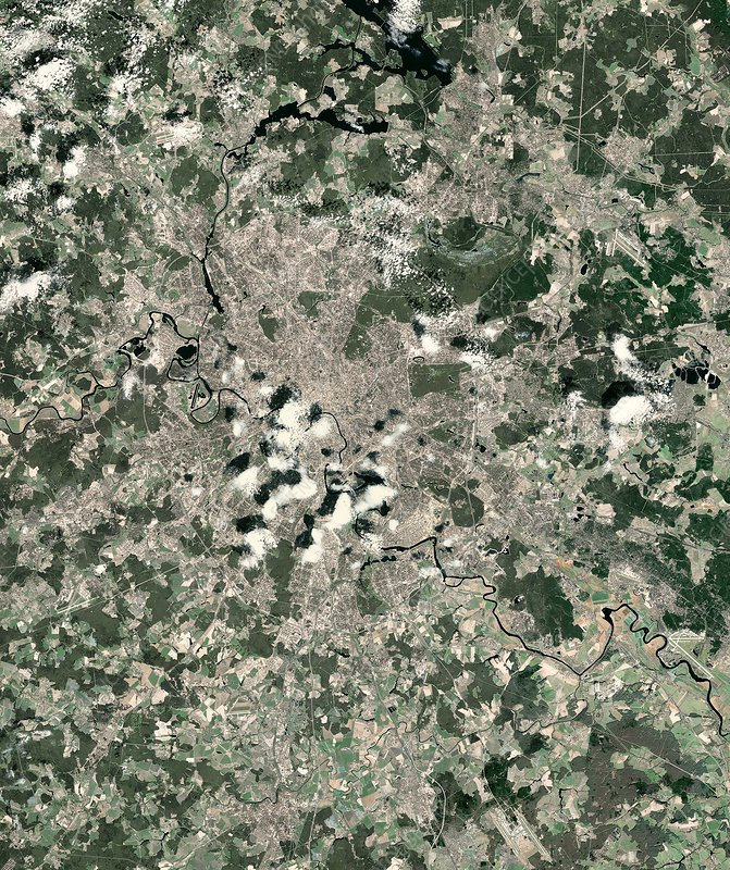 Moscow, Russia, satellite image