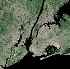 New York City, USA, satellite image