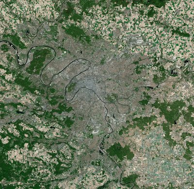 Paris, France, satellite image