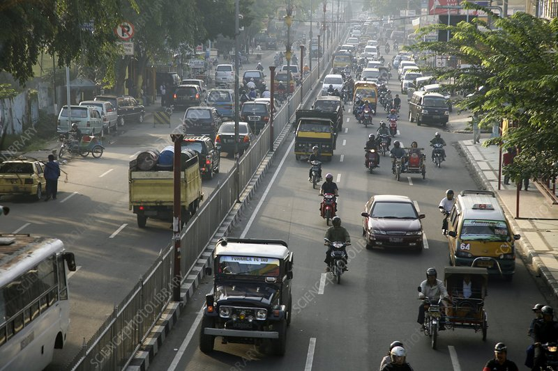 Busy road, Indonesia