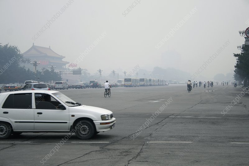 Air pollution, China