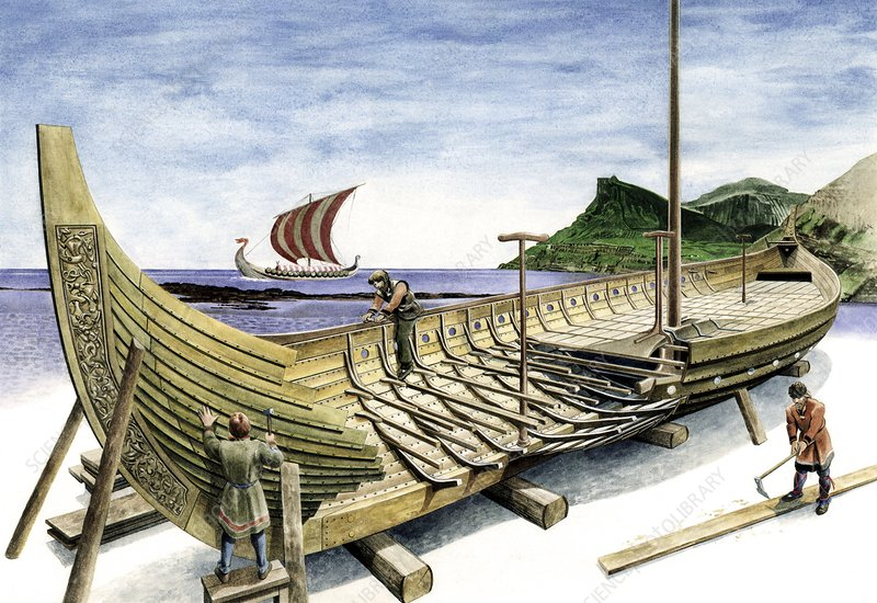 Viking longship, artwork